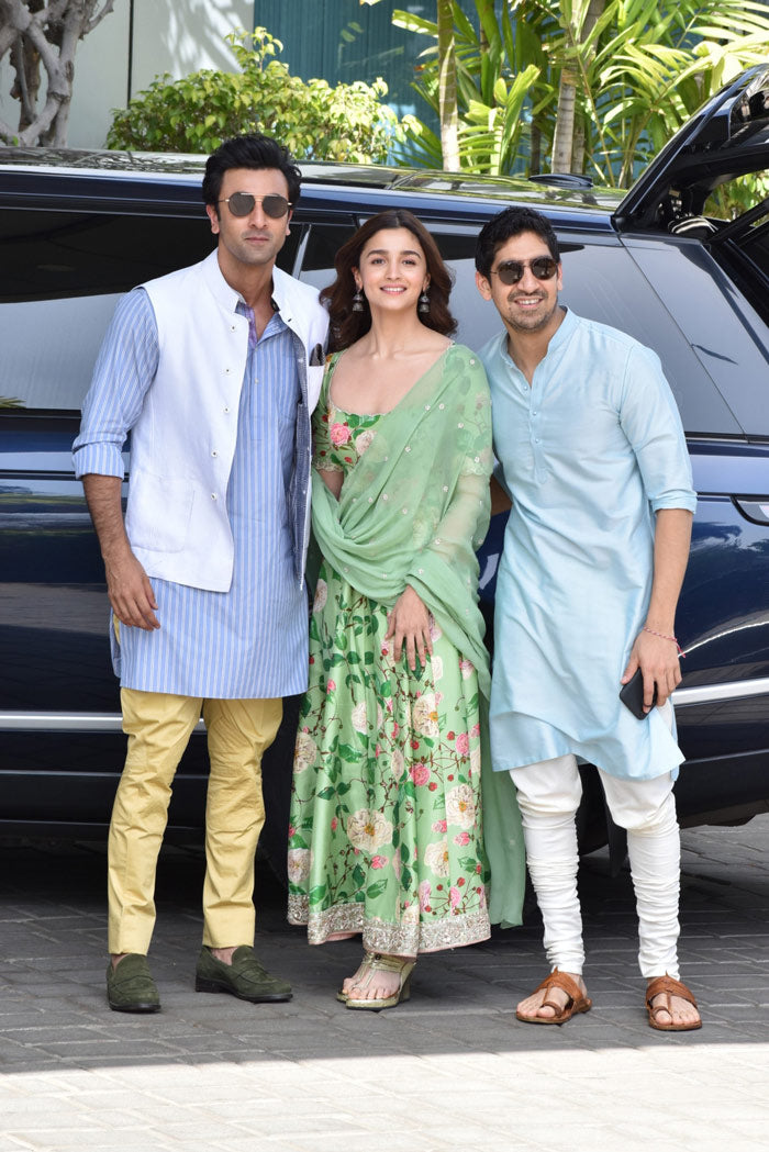 Alia Bhatt in Floral Printed Anarkali Suit
