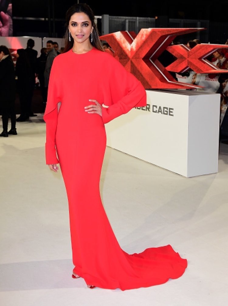 Deepika Padukone in Stella McCartney Red Gown