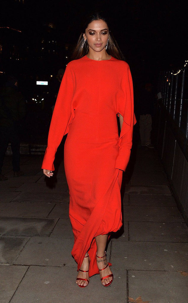 Deepika Padukone is Just Looking Red Hot in Stella McCartney Red Gown