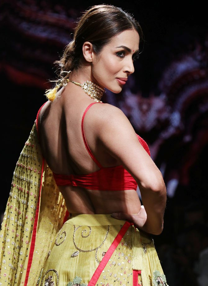 Malaika Arora Khan Looks Desi in Divya Reddy Creation