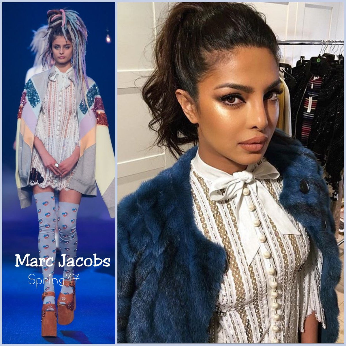 Priyanka Chopra in Marc Jacobs designer dress at New York Fashion Week