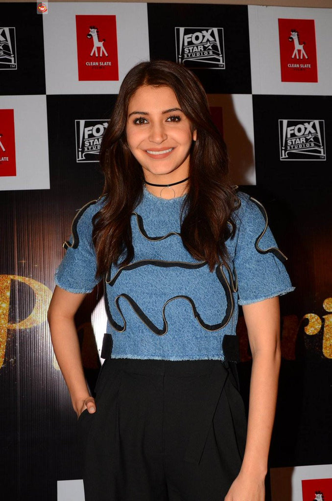 "Anushka Sharma Looks Gorgeous in Casual Style at The Event of Her Upcoming Film  ""Phillauri"""