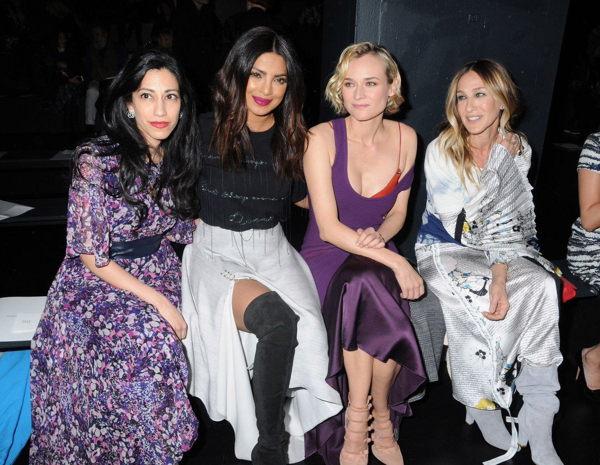 Huma Abedin, Priyanka Chopra, Diane Kruger, and Sarah Jessica Parker attend the Prabal Gurung collection during, New York Fashion Week