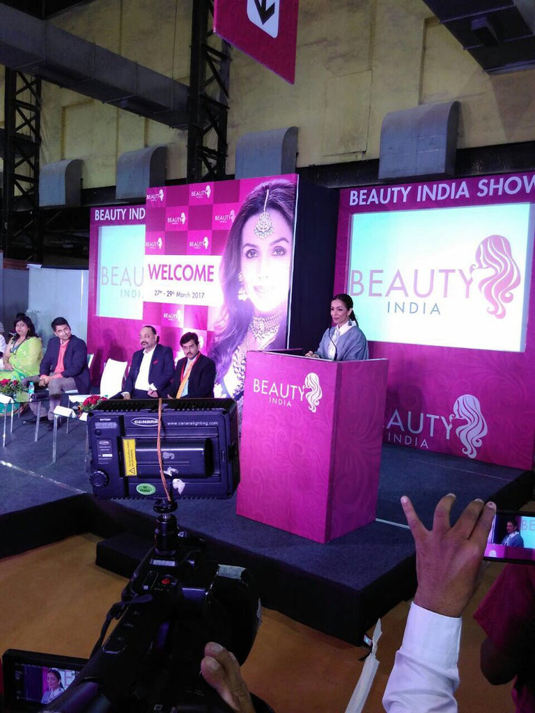 Malaika Arora Khan in Abraham And Thakore at Beauty India Exhibition Show