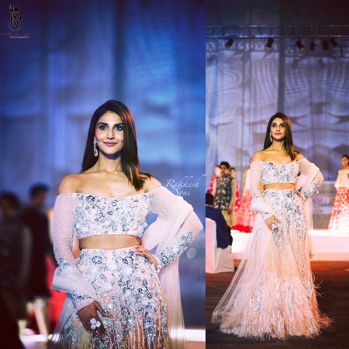 Vaani Kapoor dazzles everyone as she walks the ramp for Manish Malhotra's collection baby Pink Lehenga at summer couture 2017 Hyderabad