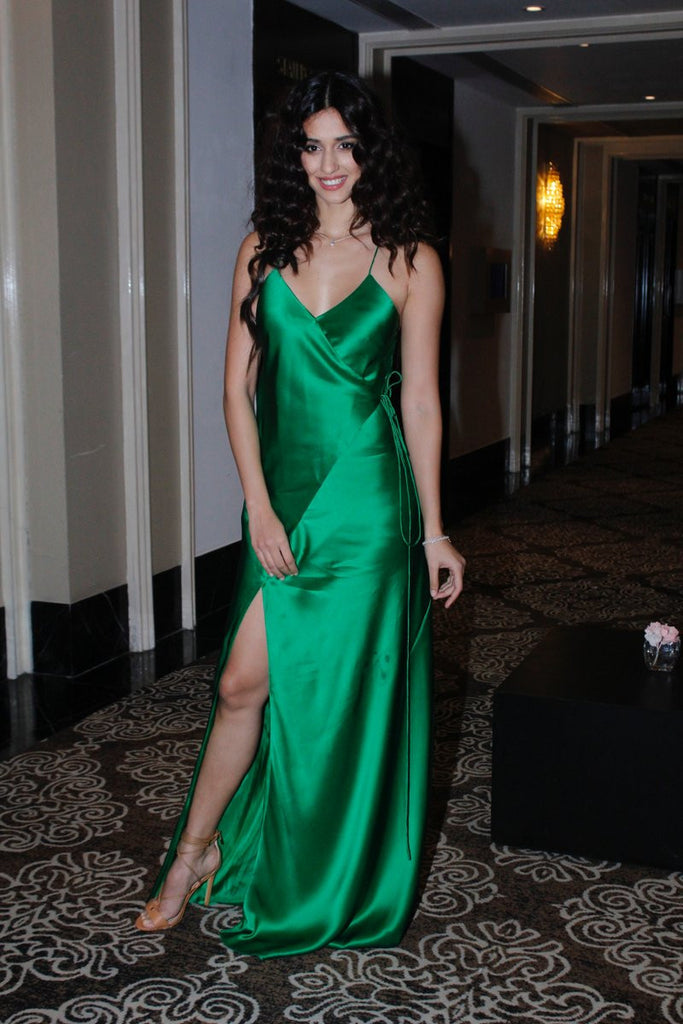 Disha Patani Looked Adorable in Green Gown at The Launch of Her App.