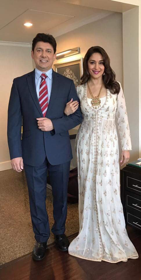 Madhuri Dixit in Anita Dongre at the Film Festival