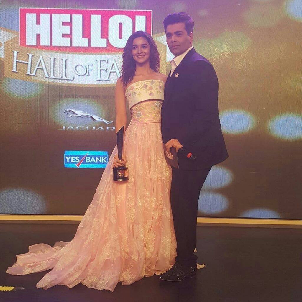 "Alia Looked Classic in Georges Chakra Spring 2016 Couture Gown At ""The Hello! Hall Of Fame Awards 2017"""