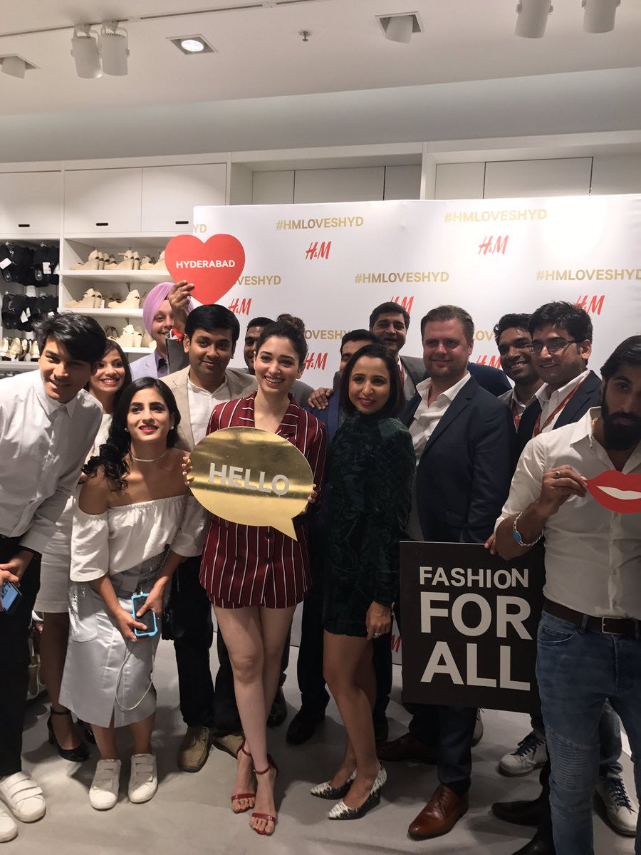 Tamannah Bhatia Looked Pretty At The H&M Store Launch Event