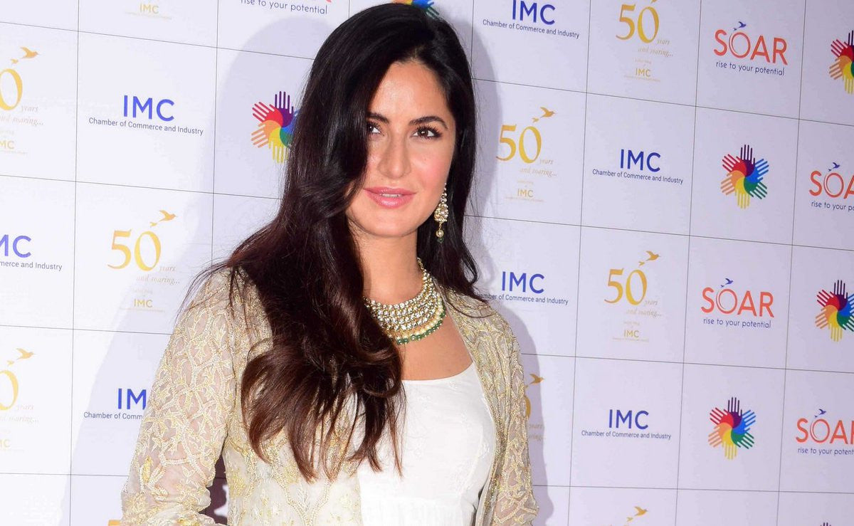 Katrina looked beautiful in Anita Dongre's Designer white maxi dress with cape