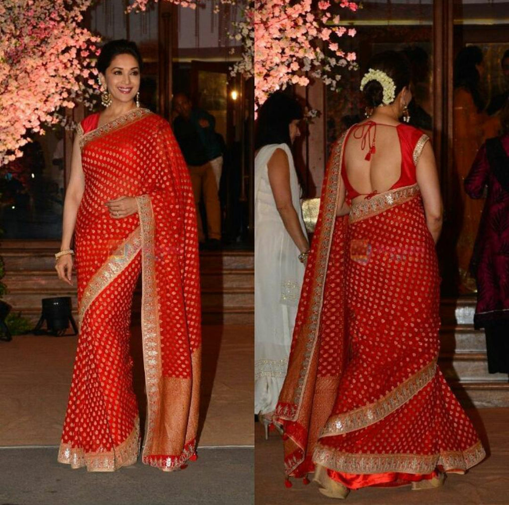 madhuri-dixit-nene-in-designer-red-saree