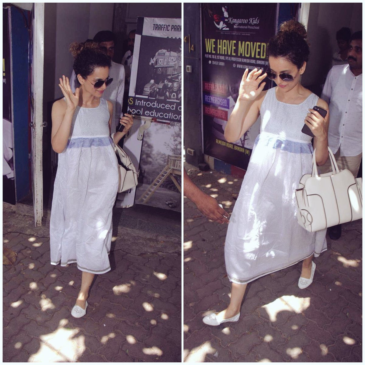 Kangana Ranaut Looked Cool in White Summer Outfit