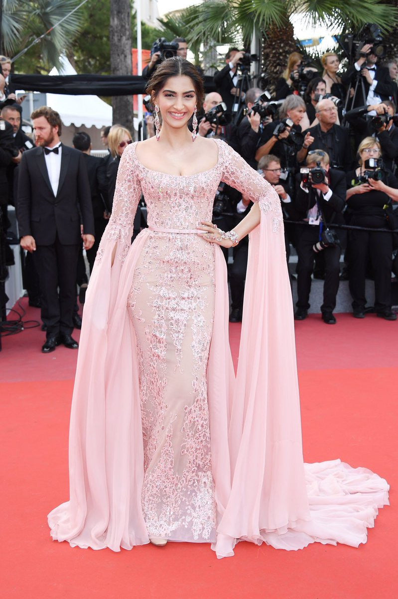 Sonam Kapoor lights up the red carpet in custom ELIE SAAB Haute Couture Gown at Cannes Film Festival 2017