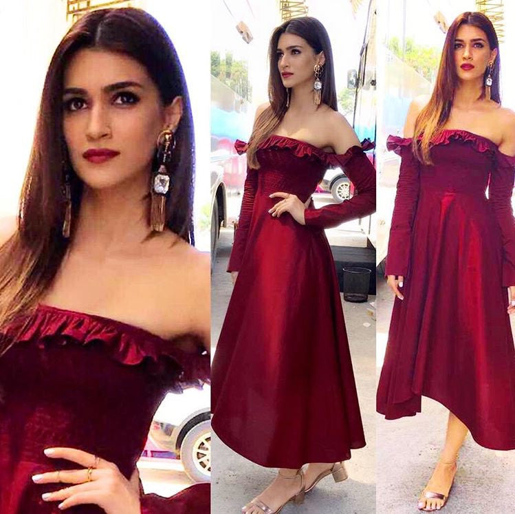 Kriti Sanon Looked Gorgeous In Manika Nanda's Outfit On The Set Of Sa Re Ga Ma Pa Li'l Champs