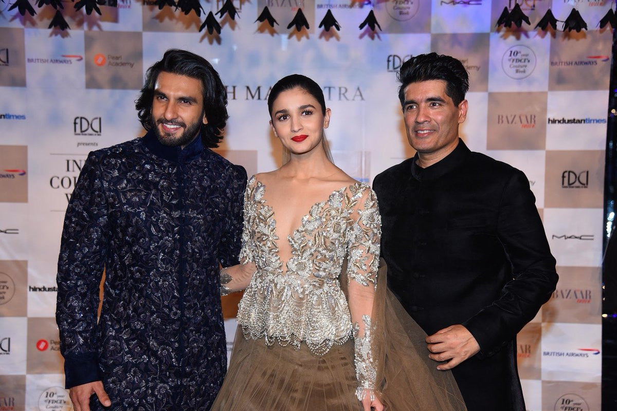 Alia Bhatt in Manish Malhotra's Designer Dress