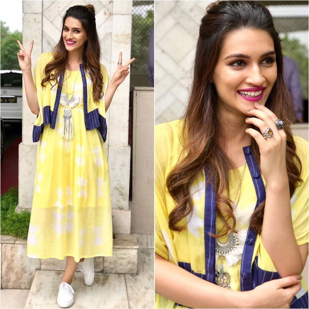 Kriti Sanon Looked Like A Sunshine in Her Easy Breezy Style For The Promotions Of Bareilly Ki Barfi