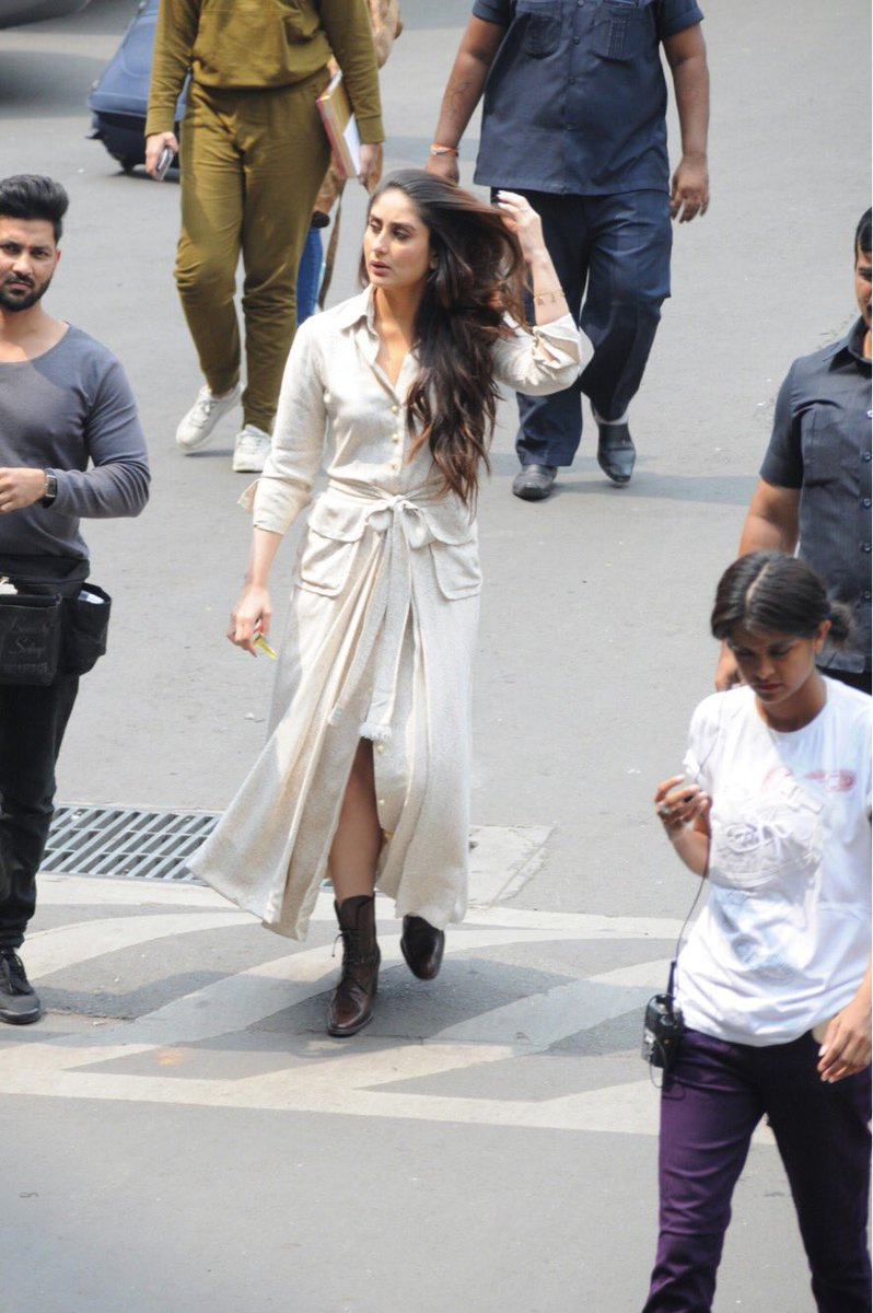 Kareena Kapoor Looked Comfy in A Shirt Dress
