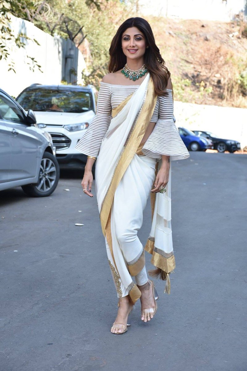 shilpa shetty in designer saree