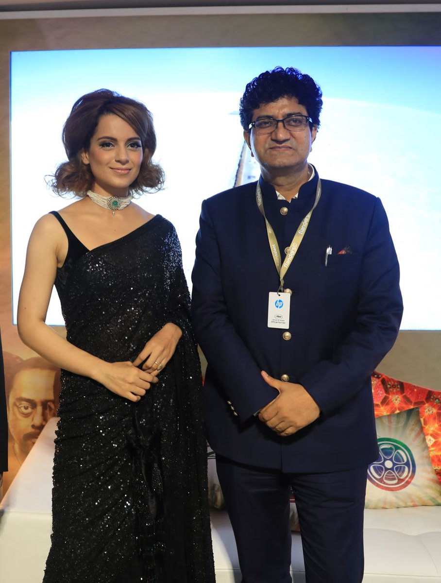 Kangana Ranaut in Sabyasachi's Black Colored Saree at Cannes