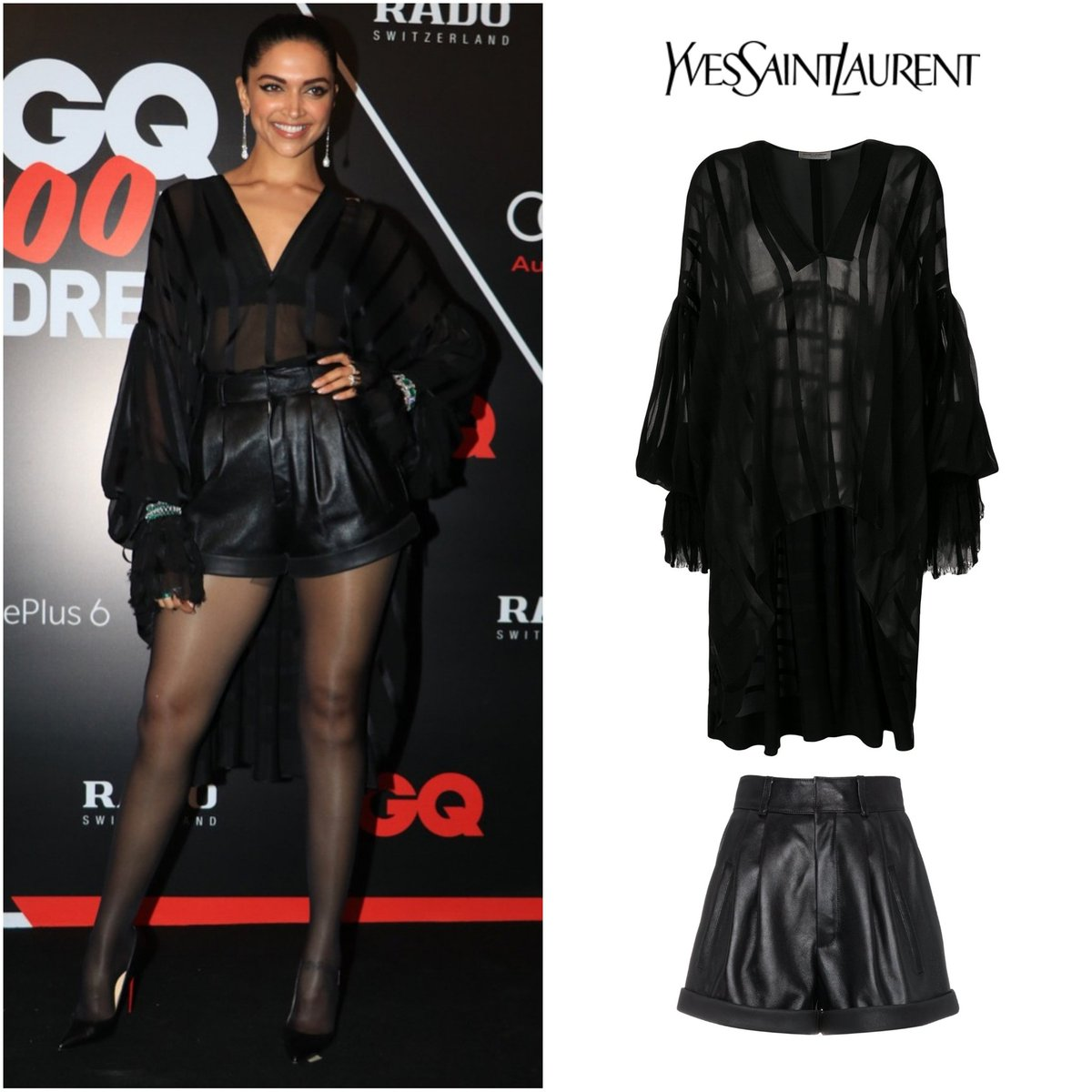 Deepika-Padukone-in-Balmain-and-Saint-Laurent