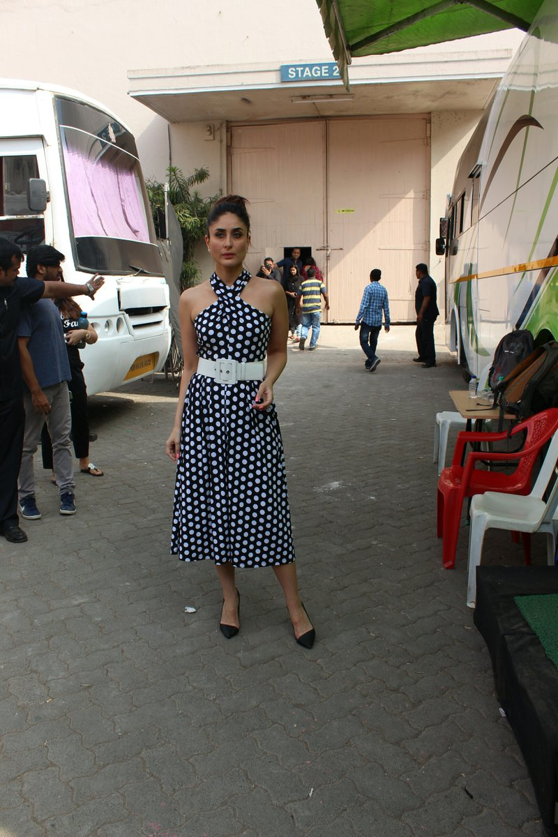 Kareena Kapoor Khan in Michael Kors's Polka Dot Print Dress