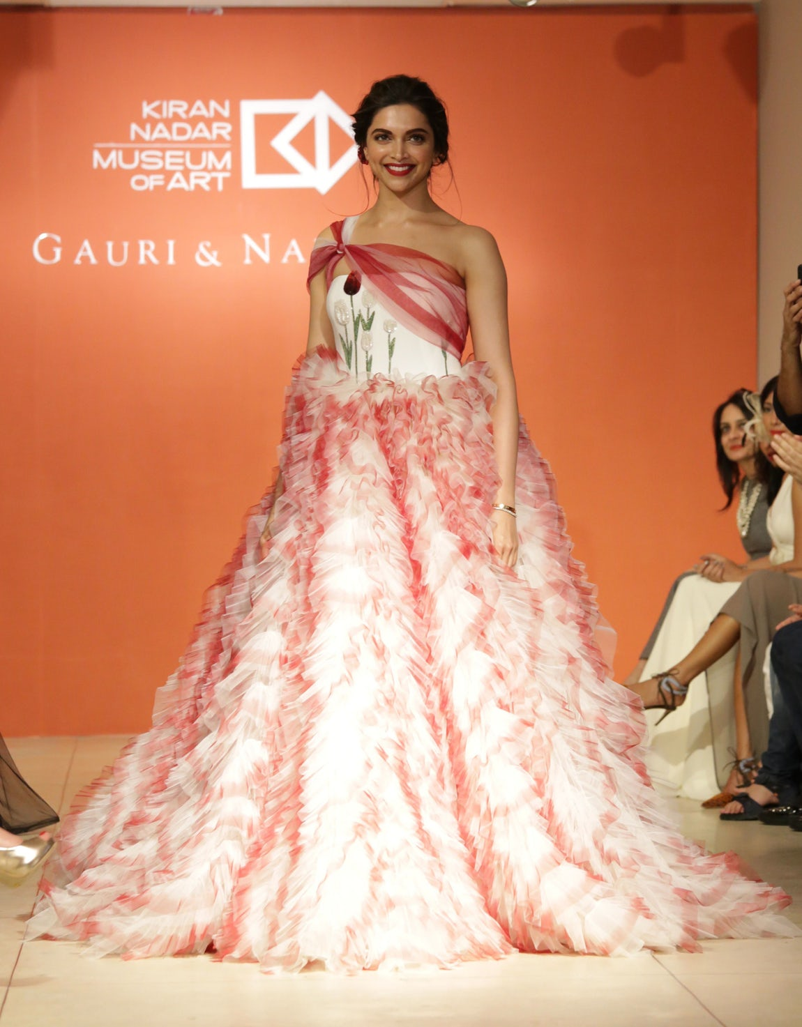 Wao!! Deepika Padukone Looked Outstanding in Gauri And Nainika Karan's Designer Floral Gown