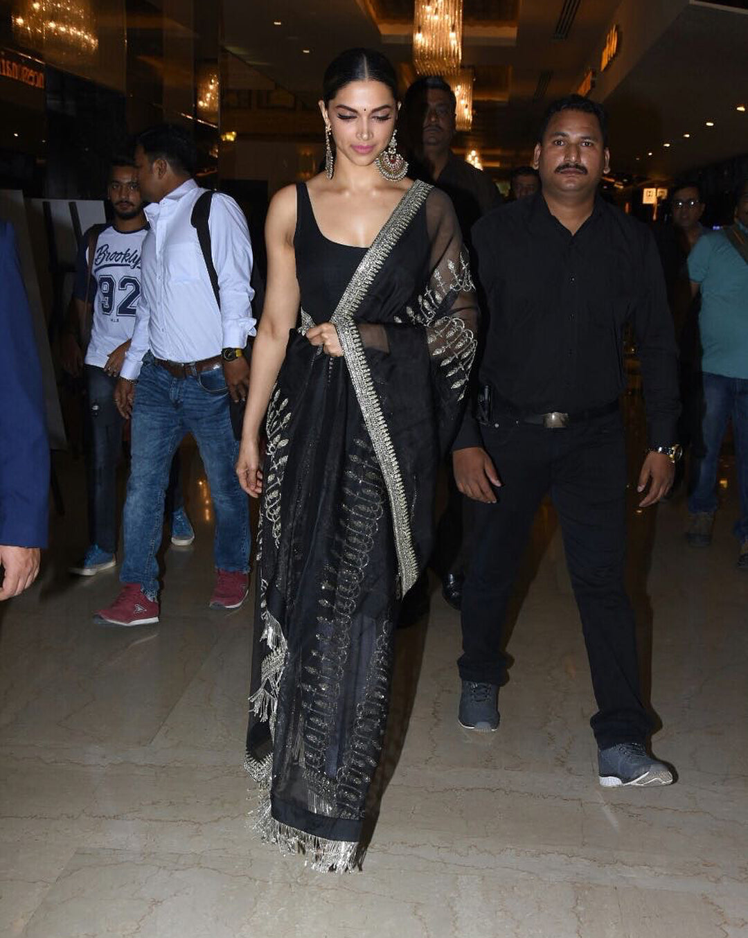 Deepika Padukone in Sabyasachi's Churidaar Salwar Suit At Padmavati 3D Trailer Launch Event