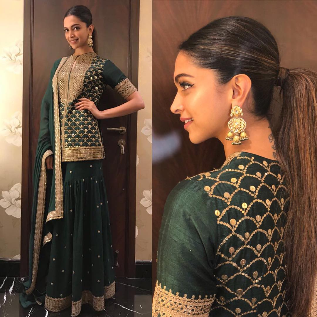 Deepika Padukone Looked Exceptionally Beautiful In Sabyasachi's Designer Sharara Set