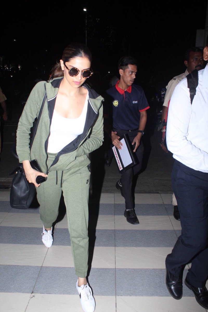 Deepika Padukone Turned Heads At The Airport With Her Casual Look