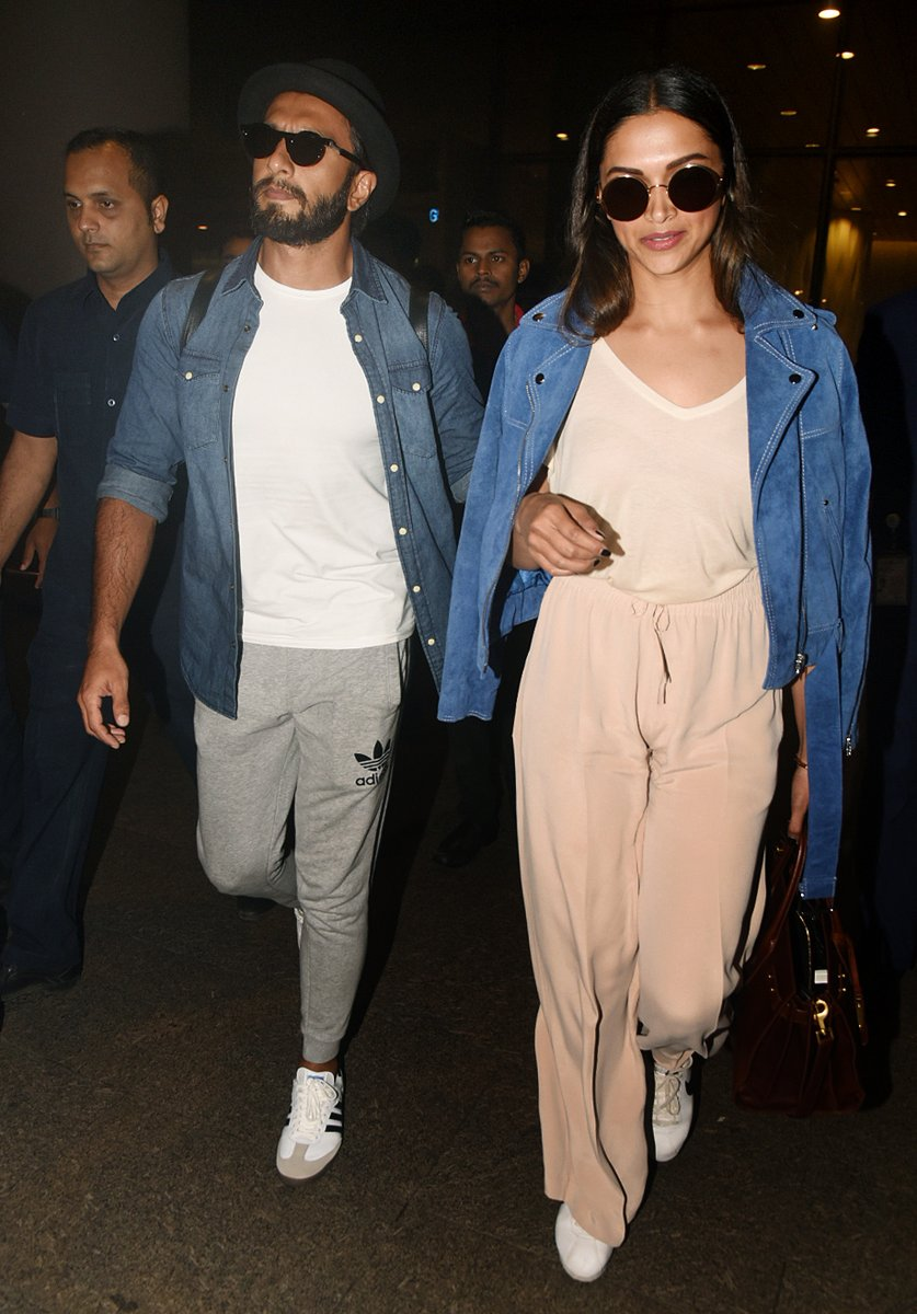 Deepika Padukone Photographed At Mumbai Airport In Jumpsuit