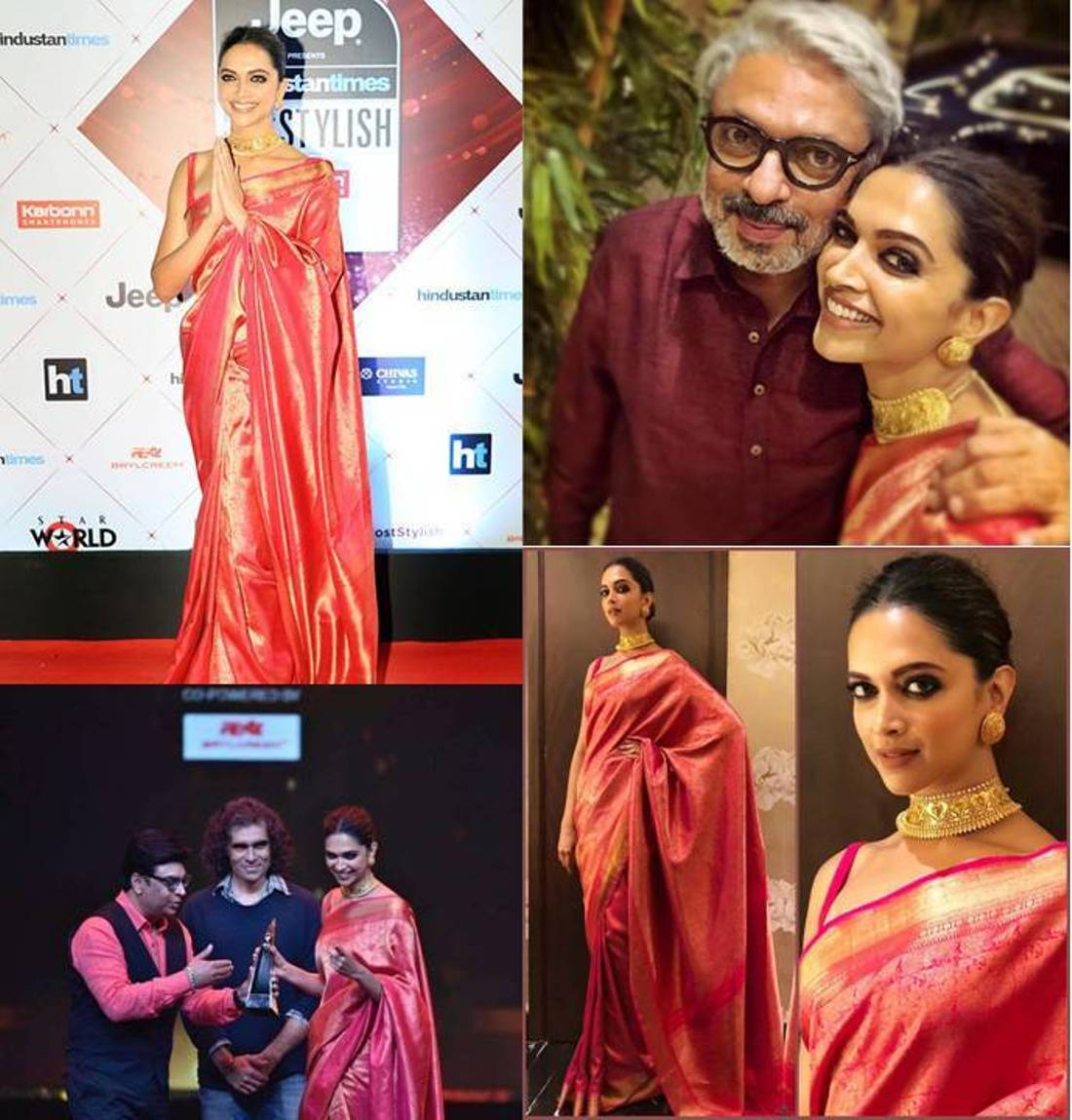 Deepika Padukone Looked Like A Desi Girl In Kanjivaram Art Silk Saree