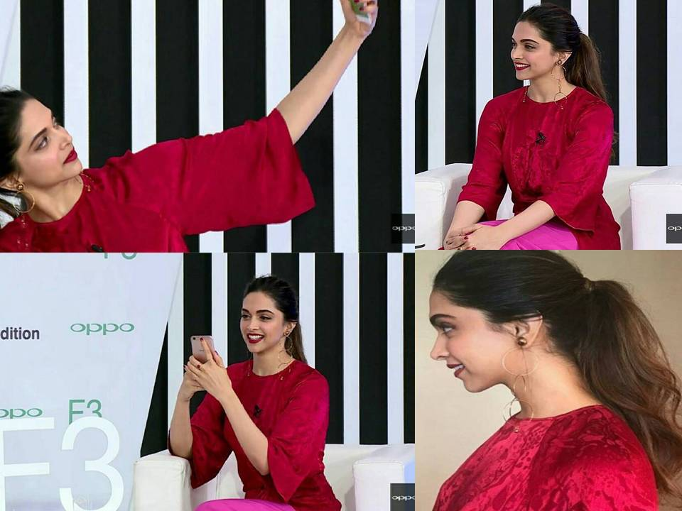 Deepika Padukone Looked Stunning at OPPO F3 Deepika Padukone Limited Edition Launch Event