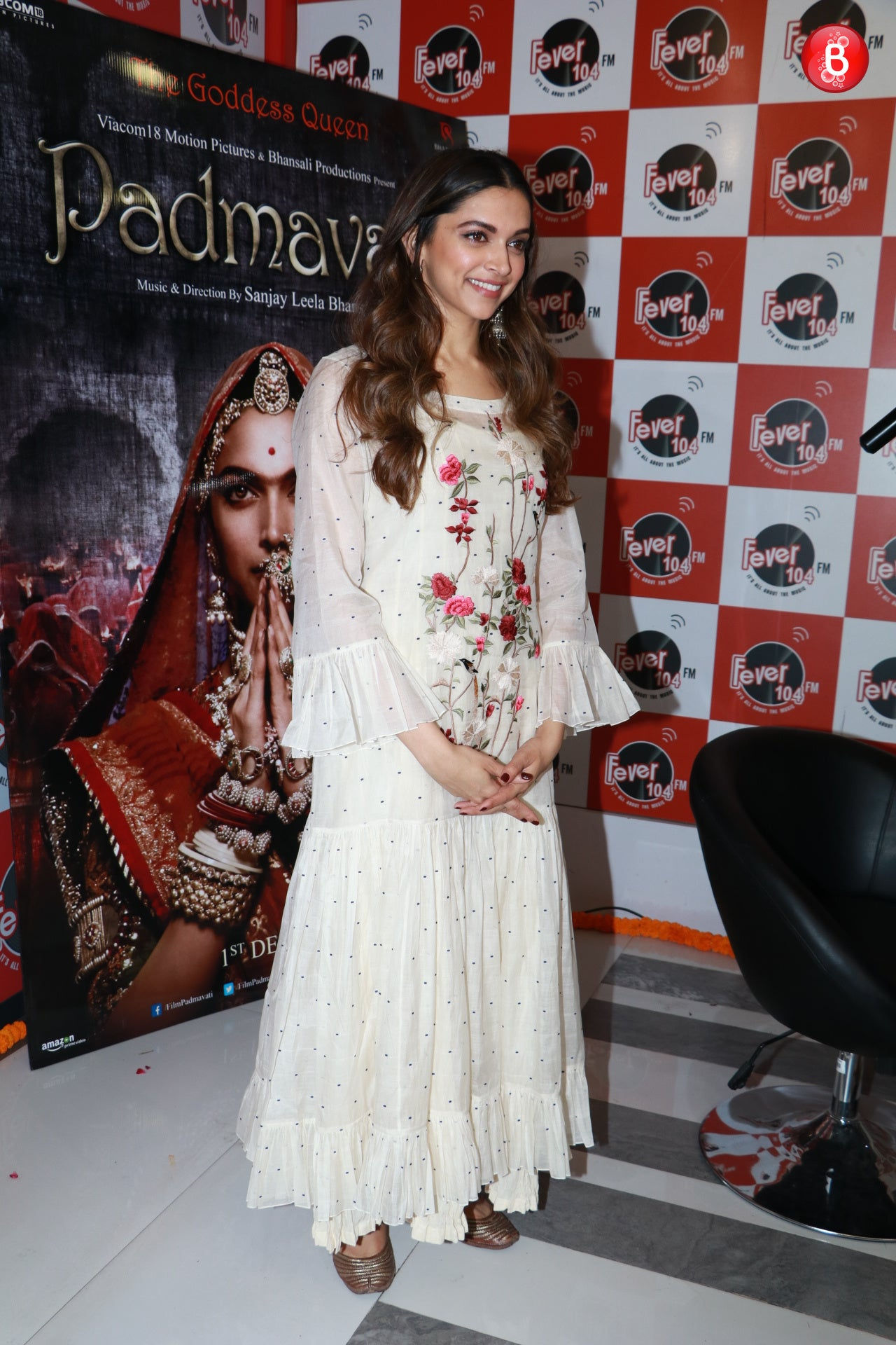 Deepika Padukone looks like a blooming flower while promoting Padmavati in Pratima Pandey's White Dress