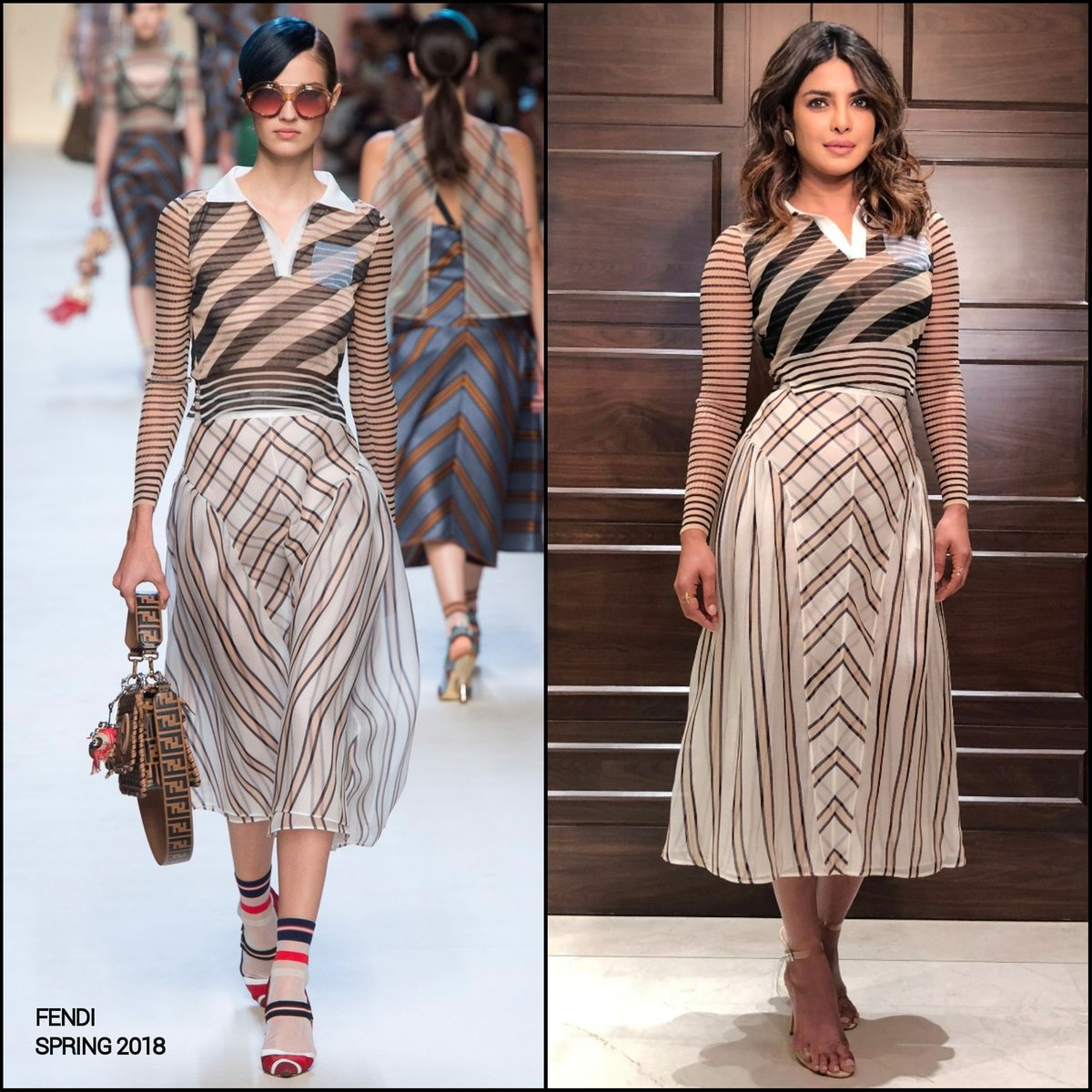Priyanka Chopra in Fendi's Designer Dress – Lady India
