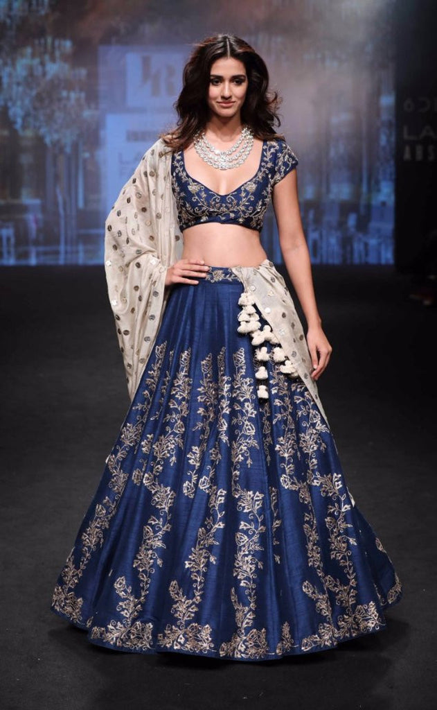 Disha Patani Looks Graced in Blue Lehenga And Choli From Jayanti Reddy's Creation