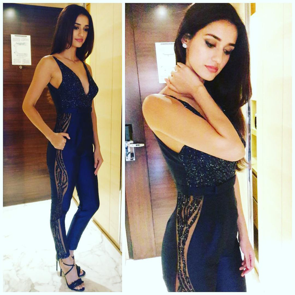 "Disha Patani Looking So Hot in Rajat tangri's Jumpsuit at ""Kung Fu Yoga"" Promotional Event in Mumbai."