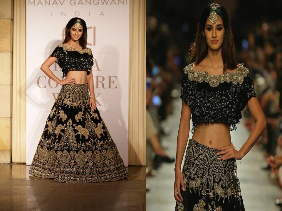Disha Patani Walked The Ramp For Designer Manav Gangwani At The ICW 2017