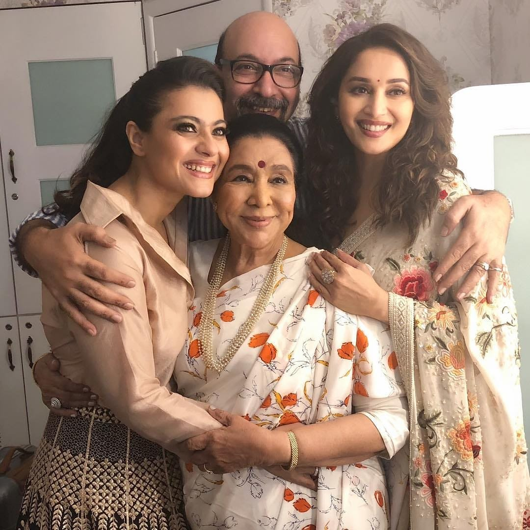 Kajol and Madhuri Dixit in Tarun Tahiliani's Dresses on the Set of a Reality Show
