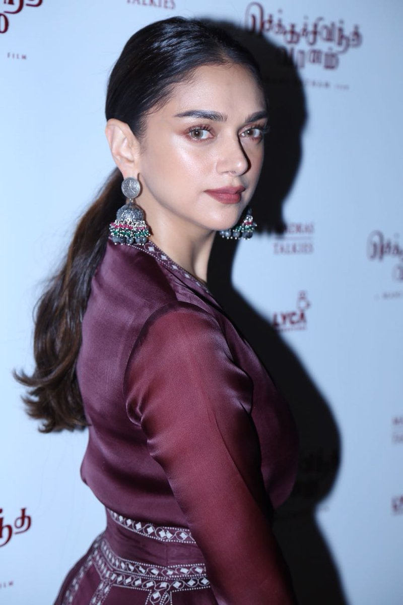 Aditi Rao Hydari in a Burgundy Maxi Dress from AM:PM Collection