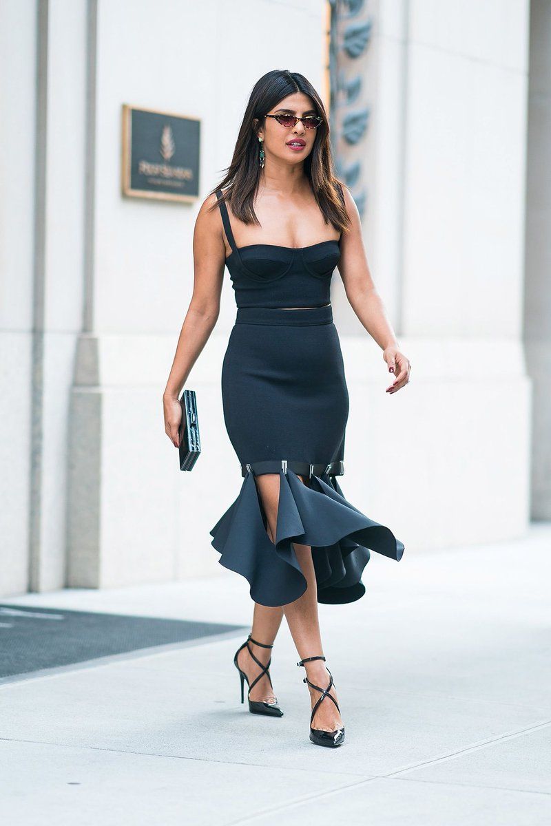 Priyanka Chopra in Dion Lee Ensemble