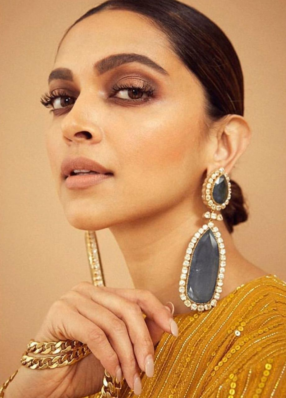 Deepika Padukone in Sabyasachi's Designer Yellow Suit With Matching Dupatta