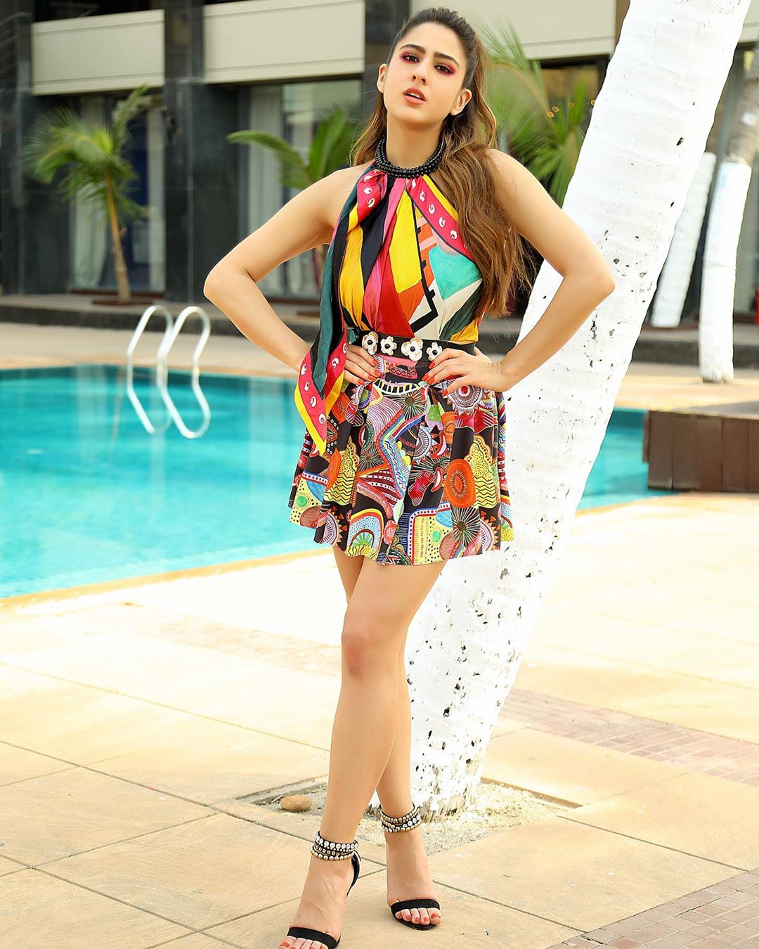 sara-ali-khan-in-designer-Multicolored-mini-dress
