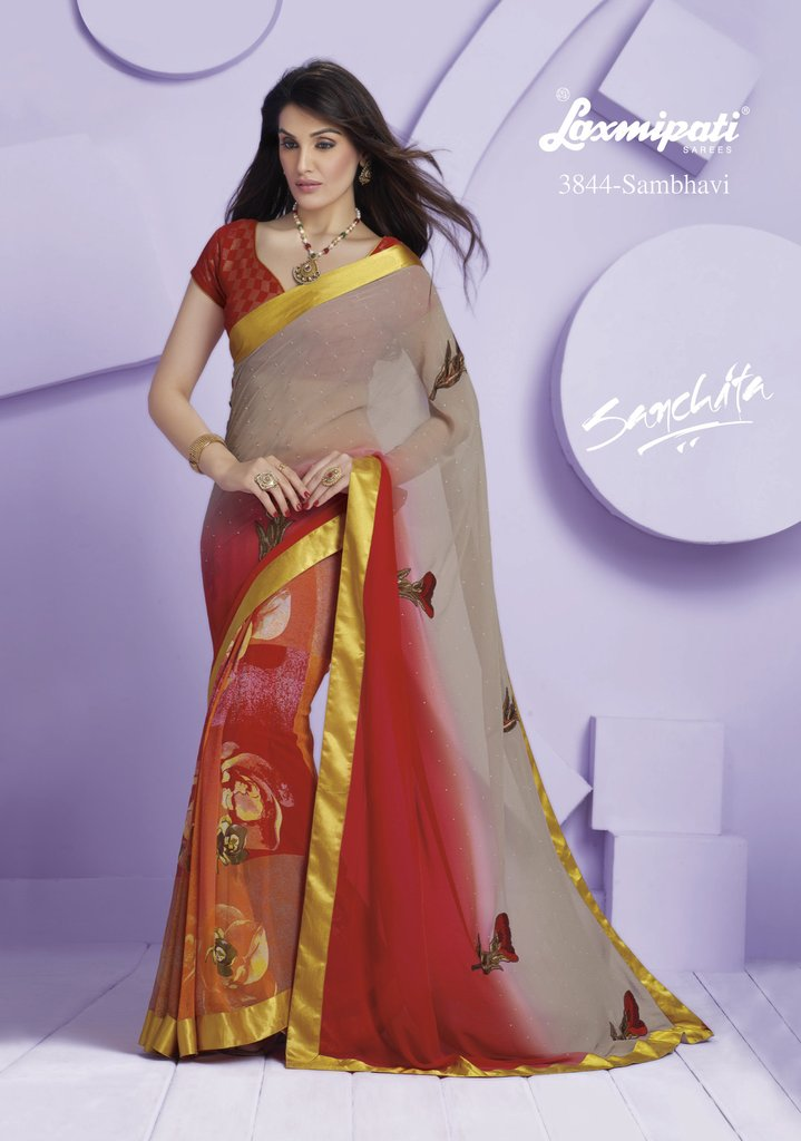 designer-printed saree