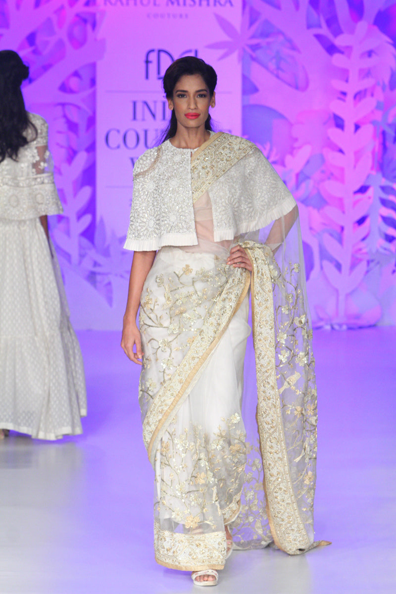 Front Open Cape With Saree