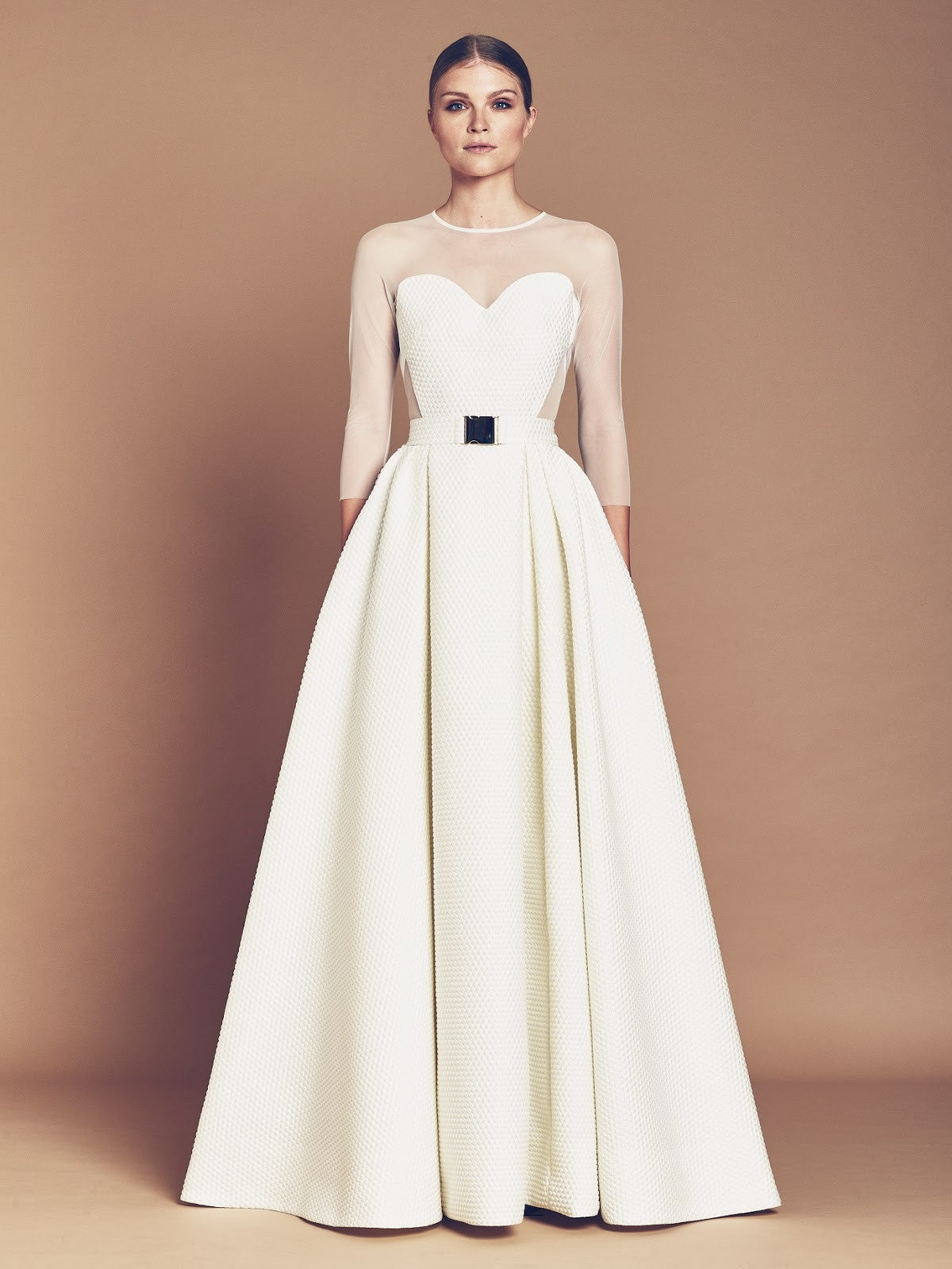 Designer Hasan Hejazi Spring/Summer 2016 Collection's White Gown