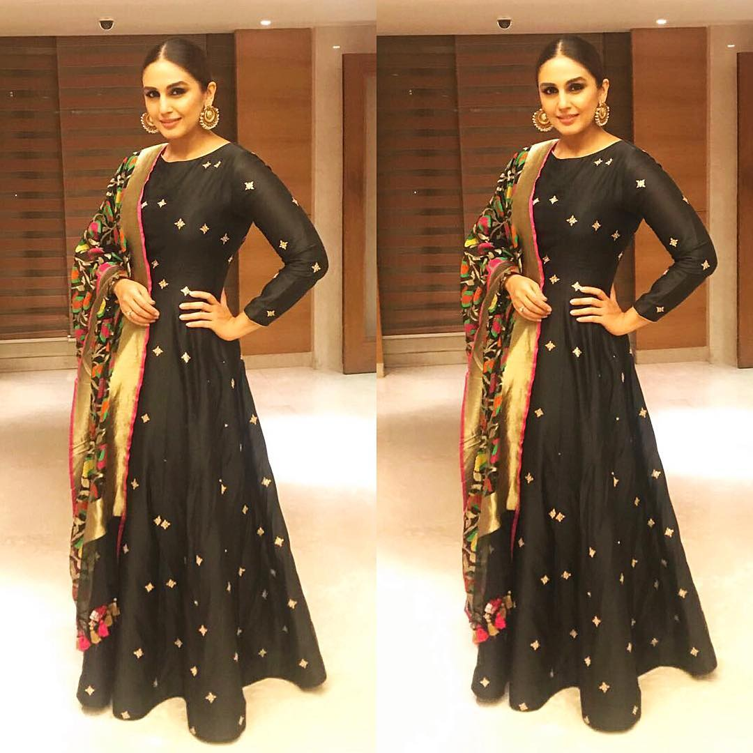 Huma Qureshi Dazzles In This Matsya's  Designer Anarkali Suit… Literally!
