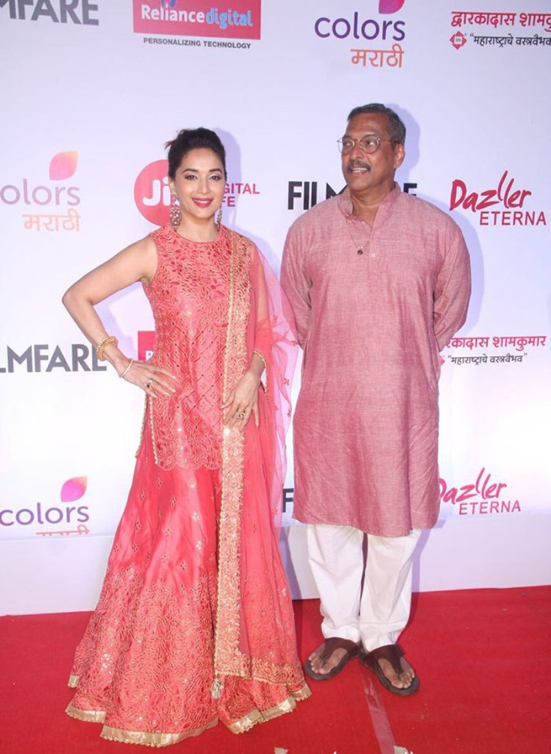 Madhuri Dixit Looks Like A Goddess In This Pretty Pink Sharara Suit