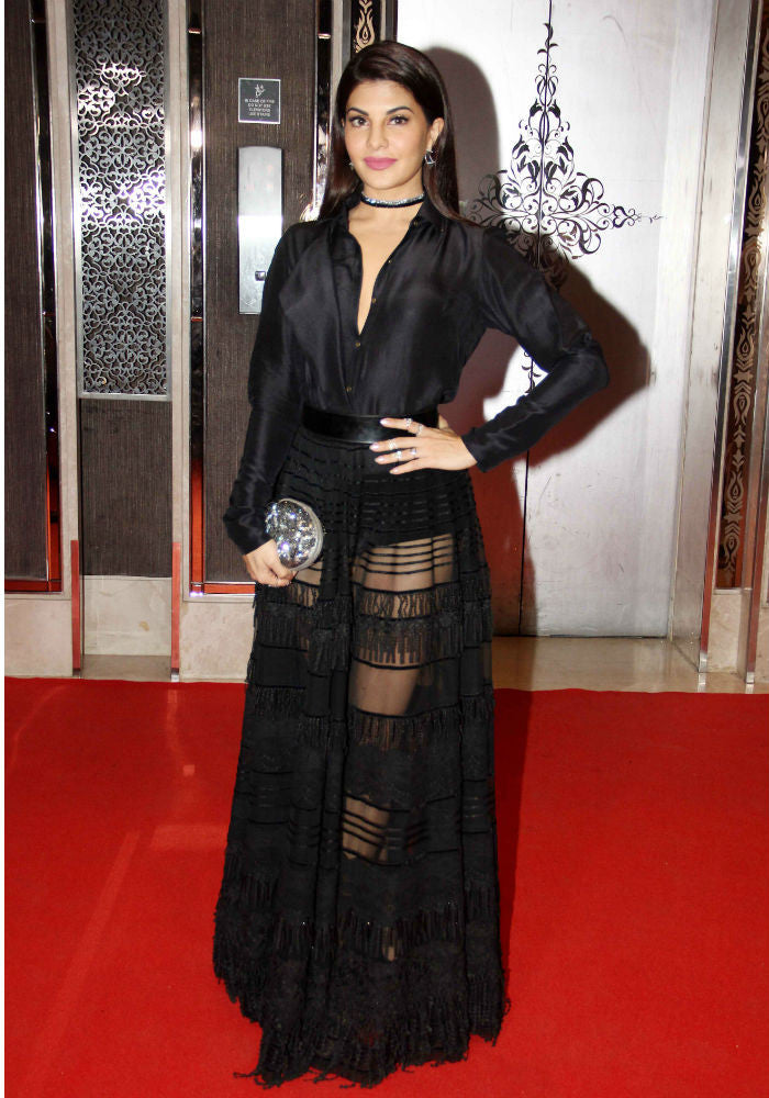 Jacqueline Fernandez Looked Elegant in A Sheer Black Outfit At The Asia Spa Awards 2017!