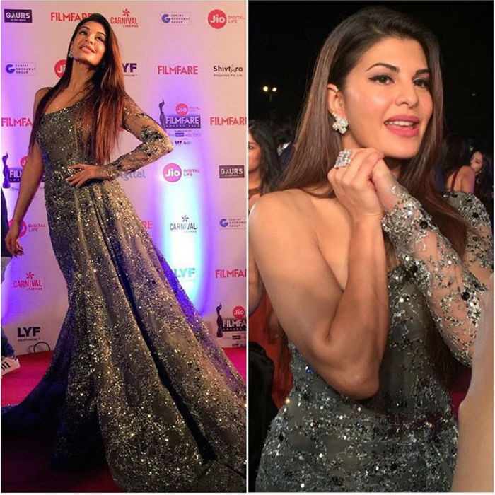 Jacqueline Fernandez Looks Glitzy on The Filmfare Awards 2017