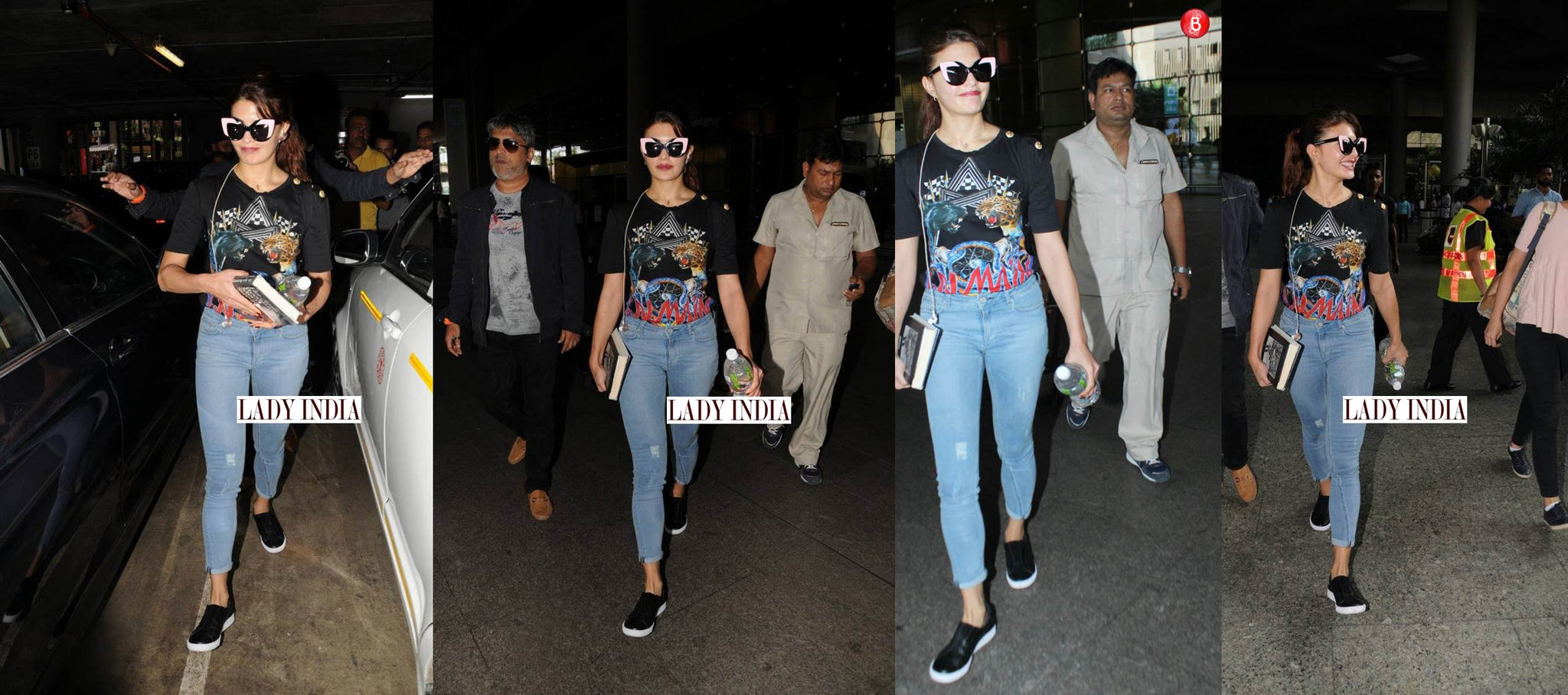 Jacqueline Fernandez glammed up the airport as she get clicked